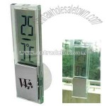 Mini digital clock with suction cup