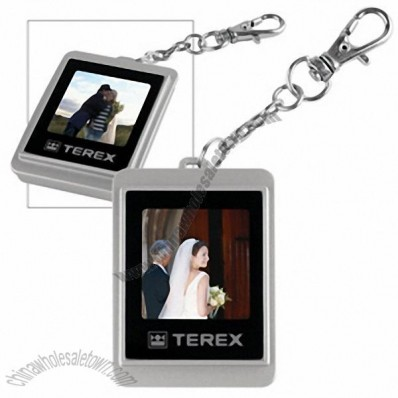 Mini digital photo frame key tag