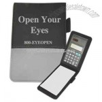 Mini jotter notepad with calculator