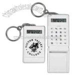 Mini plastic calculator with keychain