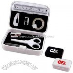 Mini stationery kit in hard case with daily essential office stationery