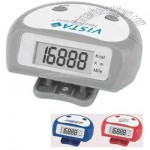 Mini stepper pedometer with clock