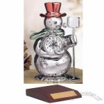 Miniature Clock Snowman