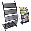Mobile Literature Magazine Rack Brochure Holder 4 shelf
