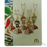 Mobile Phone Novelties, Pendant, Olympic and MacDonald, Soft/Hard Enamel Filling with String