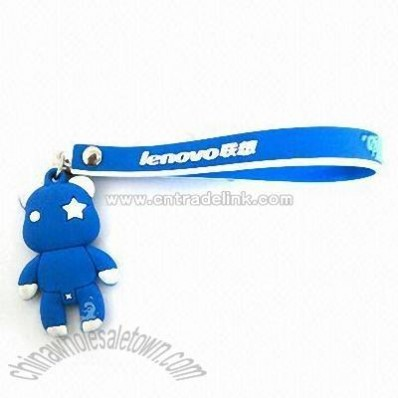 Mobile Phone Novelty Strap in Cartoon Design