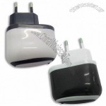 Mobile Phone Travel Charger with 500 to 1,000mA Output Current and 100 to 240V AC Input Voltage
