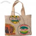 Mocha Recycled Jute/Burlap Coffee Tote Bag