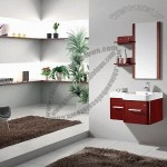 Modern Free Standing Solid Wood Bathroom Cabinet