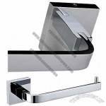Modern Slat Toilet/Tissue Paper Holder with Chrome Finish