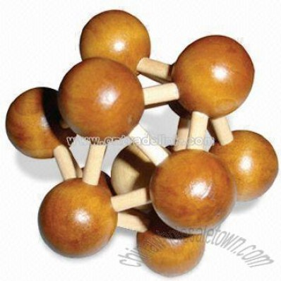Molecule-shaped Wooden Puzzle Game, Wooden Puzzle, China