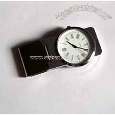 Money Clip with Watch