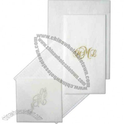 Monogram 3- Ply Beverage Napkin Made From 100% Rayon Fibers