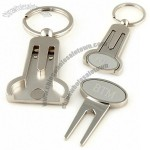 Monogrammed Golf Divot Tool Keychain