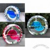 Moon & Sun Shape Car Air Fragrance Freshener Perfume Crystal Bottle