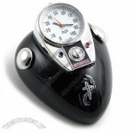 Motor Cycle Gas Tank Desk Clock with Cross