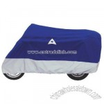Motorcycle Cover Navy/Silver Large