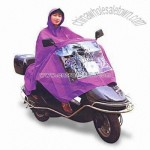 Motorcycle Poncho with Mirror Access and Transparent Part