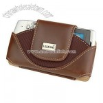 Motorola Rival A455 Brown Leather Case Pouch White Stitches