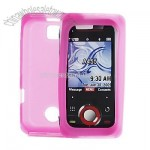 Motorola Rival A455 Clear Hot Pink Silicone Skin Mobile Case