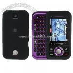 Motorola Rival A455 Rubberized Protector Case-Black