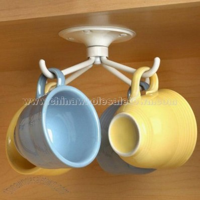 Mounted Rotating Mug Rack