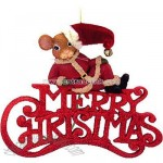 Mouse Merry Christmas Ornament