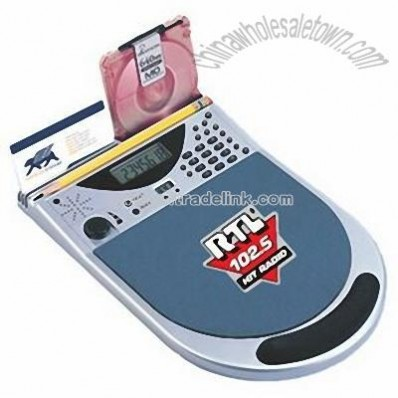 Mouse Pad Calculator with FM Radio and Clock