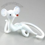 Mouse of Leisure Glass Figurine