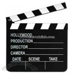 Movie set clapboard with chalk