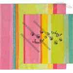 Multi Color 3-Ply Beverage Napkin With Pattern