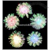 Multi Color Iridescent Foil Flower 10 Light Set
