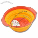 Multi-Colored 4 Quart Collapsible Silicone Colander