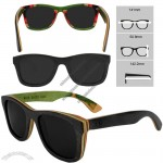 Multi Colors Maple Skateboard Sunglasses