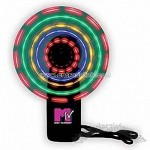 Multi-Lighted Spinning Fan