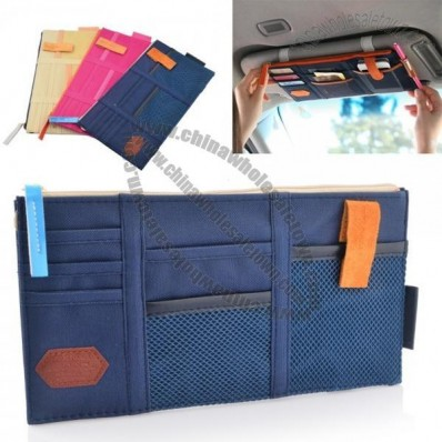 Multi Pockets design Sun Visor Organizers