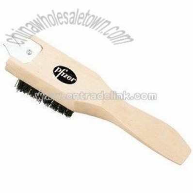 Multi-Purpose Wooden Golf Brush