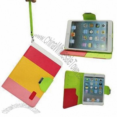 Multi-color Stand PU Leather Case for iPad Mini with Retina Display