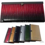 Multi-color faux leather accordion style wallet