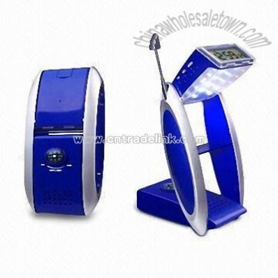 Multi-function Travel Alarm Clock with Radio