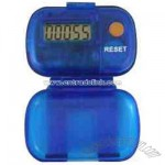 Multi-function pedometer with FM auto scan radio