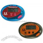 Multi function pedometer with belt clip and LED screen
