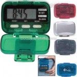 Multi function pedometer with clock