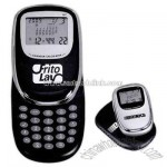 Multi-functional glider clock, calendar and calculator with black pouch
