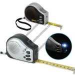 Multi-functional tape measure with 10 second voice recorder