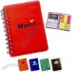 Multi-tasker - Spiral Notebook With Plastic Cover Includes Card Holder