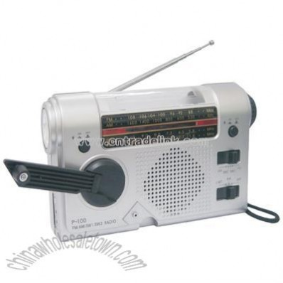 MultiFunctions Portable Radio With Torch & Hand Dynamo