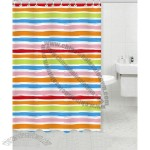 Multicolor Polyester Shower Curtain