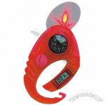 Multifunction Carabiner Lighter with LED Light and Compass and Clock