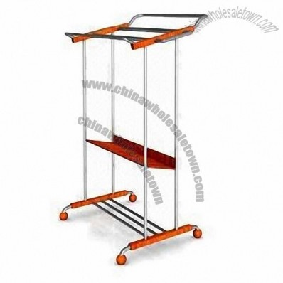 Multifunction Clothes Rack with Adjustable Shelves